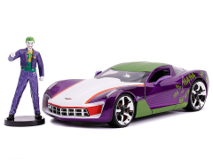 DC Comics Hollywood Rides Joker & 2009 Chevy Corvette Stingray Concept 1/24 Scale Vehicle