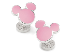 Disney Mickey Mouse Pink Cufflinks