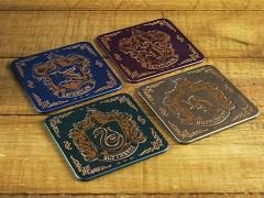 Harry Potter Hogwarts House Crest Coasters Four-Pack