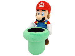 "Super Mario Mario & Warp Pipe 9"" Plush"