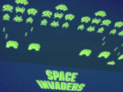 Space Invaders Glow-in-the-Dark Wall Tiles