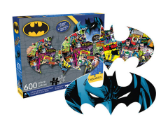 DC Comics Batman Collage and Logo 600-Piece Puzzle