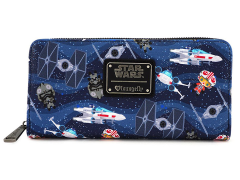 Star Wars Chibi Ships Print Wallet