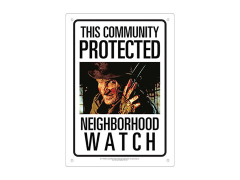 A Nightmare on Elm Street Freddy Krueger Neighborhood Watch Tin Sign