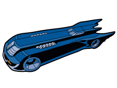 Batman: The Animated Series Batmobile Mega-Mega Magnet
