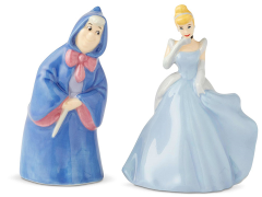 Cinderella Fairy Godmother & Cinderella Salt & Pepper Shaker Set