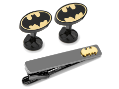 DC Comics Batman Black and Gold Cufflinks and Tie Clip Gift Set