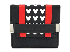 Mickey Mouse Black & Red Tri-Fold Wallet