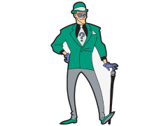 Batman: The Animated Series The Riddler Mega-Mega Magnet