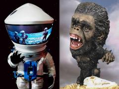 2001: A Space Odyssey Deform Real Discovery Astronaut (Silver) & The Man-Ape Two-Pack