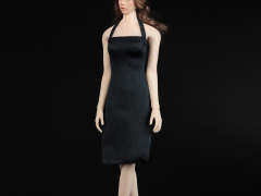 Women's Slit Dress (Black) 1/6 Scale Accessory Set