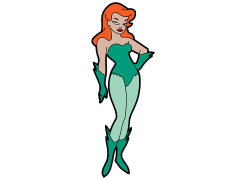 Batman: The Animated Series Poison Ivy Mega-Mega Magnet