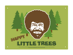 The Joy of Painting Bob Ross Happy Trees Tin Sign