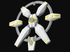 Gundam HGBD:R 1/144 Core Gundam II New Weapons 2 Accessory Set