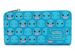 Pokemon Squirtle Faces Zip Top Wallet
