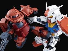 Gundam SDCS #18 RX-78-2 Gundam & MS-06S Zaku II Model Kit Set