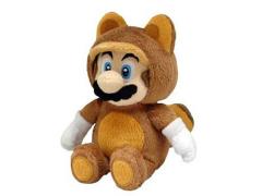 """Super Mario Tanooki Mario 10"""" Plush"""
