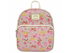 Pokemon Pikachu & Eevee Floral Convertible Mini Backpack