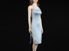 Women's Slit Dress (Light Blue) 1/6 Scale Accessory Set