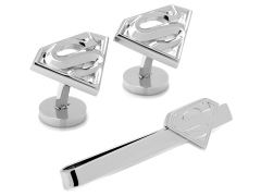 DC Comics Superman Stainless Steel Cufflinks and Tie Bar Gift Set