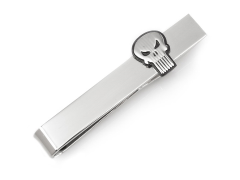 Marvel The Punisher Silver Tie Bar