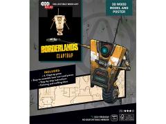 Borderlands IncrediBuilds Claptrap Poster & 3D Wood Model