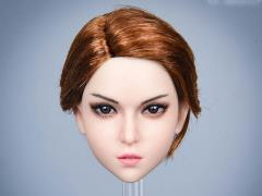Mary Female Head Sculpt (Red Hair) 1/6 Scale Accessory