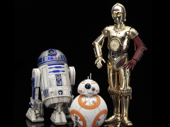 Star Wars ArtFX+ C-3PO & R2-D2 With BB-8 Statue Pack (The Force Awakens)