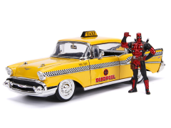 Marvel Hollywood Rides Deadpool & 1957 Chevy Bel Air Taxi 1/24 Scale Vehicle