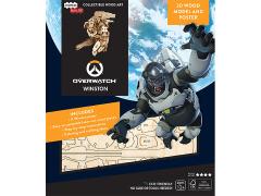Overwatch IncrediBuilds Winston Poster & 3D Wood Model