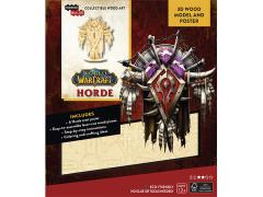 World of Warcraft IncrediBuilds Horde Crest Poster & 3D Wood Model