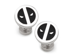 Marvel Deadpool Silver Mask Cufflinks
