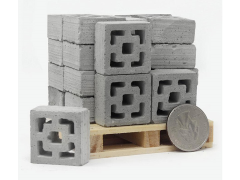 Mini Materials 1/12 Scale Pallet of Mini Vista Vue Breeze Blocks (24 Pack)