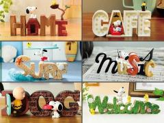 Peanuts Snoopy Collection of Words Box of 6 Mini Dioramas