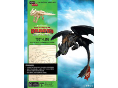 How To Train Your Dragon IncrediBuilds Toothless Deluxe Book & 3D Wood Model Kit