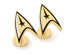 Star Trek Delta Shield Gold Plated Cufflinks