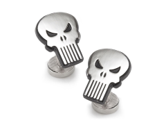 Marvel The Punisher Silver Cufflinks