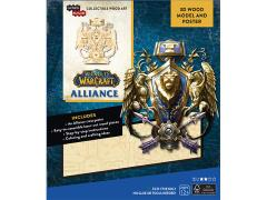 World of Warcraft IncrediBuilds Alliance Crest Poster & 3D Wood Model