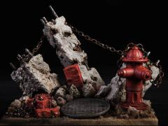 The Ruins Hydrant Diorama Base (With Bonus)