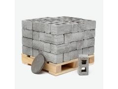 Mini Materials 1/18 Scale Pallet of Mini Cinder Blocks (72 Pack)