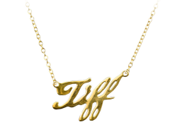 Bride of Chucky Tiffany Gold Pendant Necklace