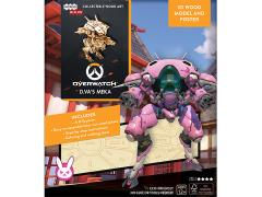 Overwatch IncrediBuilds D.Va's MEKA Poster & 3D Wood Model