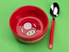 Super Mario Bros. Breakfast Bowl & Spoon Set