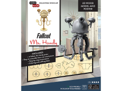 Fallout IncrediBuilds Mr. Handy Poster & 3D Wood Model