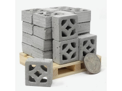 Mini Materials 1/12 Scale Pallet of Mini Empress Breeze Blocks (24 Pack)