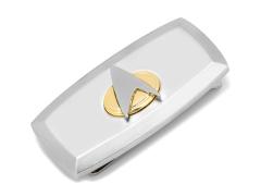 Star Trek Delta Shield Cushion Two Tone Money Clip
