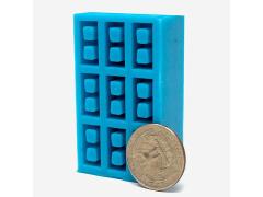 Mini Materials 1/24 Scale Mini Cinder Block Mold (9 Piece)