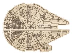 Star Wars Millennium Falcon Die Cut Wooden Shelf