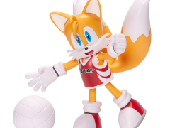 """Sonic The Hedgehog 4"""" Basic Tails (Volleyball) Bendy Figure"""