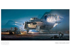 Star Wars Fixing the Razor Crest Limited Edition Giclee
